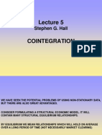 Lecture 5 Cointegration