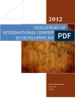 Challenges of International Conventions in Developing Countries