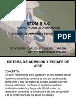 Sistema de Admision Yescape de Aire 1 Etom s.a.c