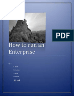 How to Run an Enterprise