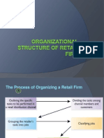 Organizational Structure of Retail Firm