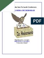 Cordovero Rabi Moshe - La Palmera de Deborah