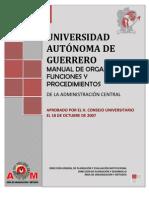 Manual de Organizacion y Funciones Administracion Central UAGro