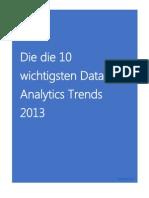 Die 10 wichtigsten BI Trends 2013