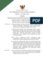 Keputusan Menteri Sosial RI No.15A-HUK-2010 Tahun 2010 Tetang Panduan Umum Program Kesejahteraan Sosial Anak