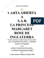 Carta Abierta Princesa Margaret