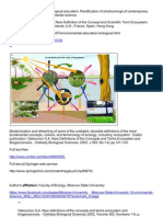Environmental education, New Definition of the Concept and Scientific Term Ecosystem; http://ru.scribd.com/doc/156547026/