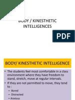 BODY Kinesthetic