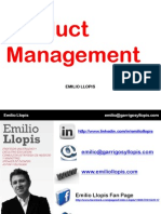 Product Management-Emilio Llopis