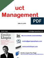 Product Management-Emilio Llopis