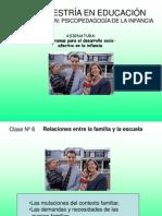 Clase 6 Relaciones Entre La Familia y La Escuela