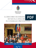 Discorso Di Insediamento - Nicola Zingaretti - Provincia di Roma
