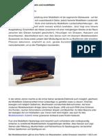 Ausgestaltung der Modellbahn und Modelleisenbahn Epochen