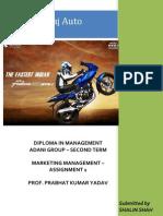 Assignment 1 - Bajaj Auto