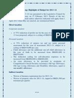 Hong Kong Budget 2013 14