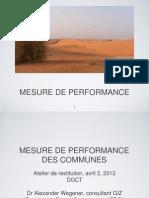Présentation - Mesure de performance