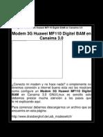 Configurar Modem 3g Huawei Mf110