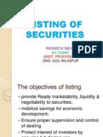 Listing of Securitiez