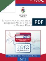 Piano Provinciale Per La Diffusione Delle Reti Wi-fi - Nicola Zingaretti - Provincia di Roma