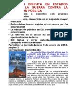 LA GRAN DISPUTA EN ESTADOS UNIDOS, LA GUERRA CONTRA LA EDUCACIÓN PÚBLICA