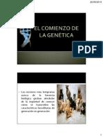 21. EL COMIENZO DE LA GENÉTICA