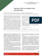 Lidocaine vs Magnesium Effect
