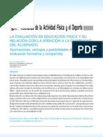 LA EVALUACIÓN EN EDUCACIÓN FÍSICA Y SU