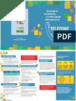 Folder Telefone Popular Familias