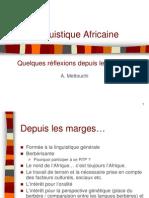 Linguistique Africaine - Mettouchi