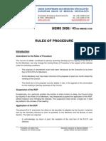 Uems proceduri