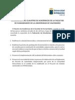 Declaracion Del Claustro de Academicos de La Facultad de Humanidades de La Universidad de Valparaiso PDF