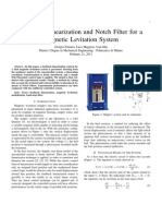 Feedback Linearization and Notch Filter for a Magnetic Levitation System (MagLev)