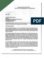 Carta Comisionada de Seguros a Salud Federal