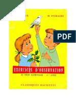 Leçons de Choses Orieux-Everaere 01 CE1 Exercices d'Observation Classique Hachette
