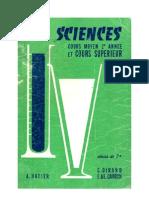Leçons de choses Dirand-Carron CM2-CS Les Sciences