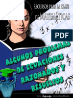 Algunos problemas de ecuaciones razonados y resueltos.