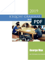 K'EQCHI' GRAMMAR – An Introduction  by George Max