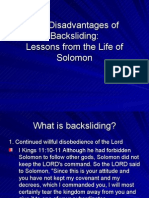 The Disadvantages of Backsliding