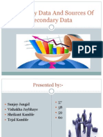 Secondary Data and Sources of Secondary Data