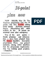 Indira Gandhi's 24 Points during Emergency