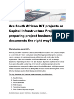 The Power of Business Case Documents in Measuring Project Performance - The South African Perspective