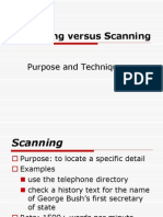 Skim Versus Scan
