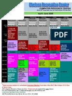 Chelsea Calendar April-June 09