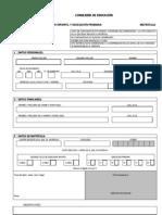 impreso matricula