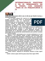 PRUEBAS INTERNACIONALES MUESTRAN DIFERENCIAS EN EL RENDIMIENTO EN TODOS LOS PAÍSES