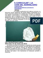 REFORMA CURRICULAR, LA DESAPARICIÓN DEL NORMALISMO 1