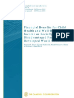 Lucas - Financial Benefits for Child Health and Well-being in Low Income or Socially Disadvantaged Families in Developed World Countries - CSR