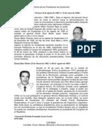 Historia de Los Presidentes de Guatemala (Dictadura)