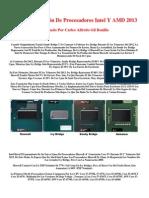 Nueva Generación De Procesadores Intel Y AMD 2013