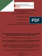 Uesst, Implicaciones de La Reforma Laboral a Los Trabajadores Al Servicio Del Estado